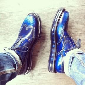 Prada…Levitating Men's Lace-ups…Spazzolato Style..